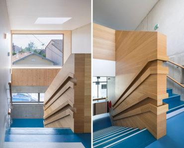 wood handrail design,