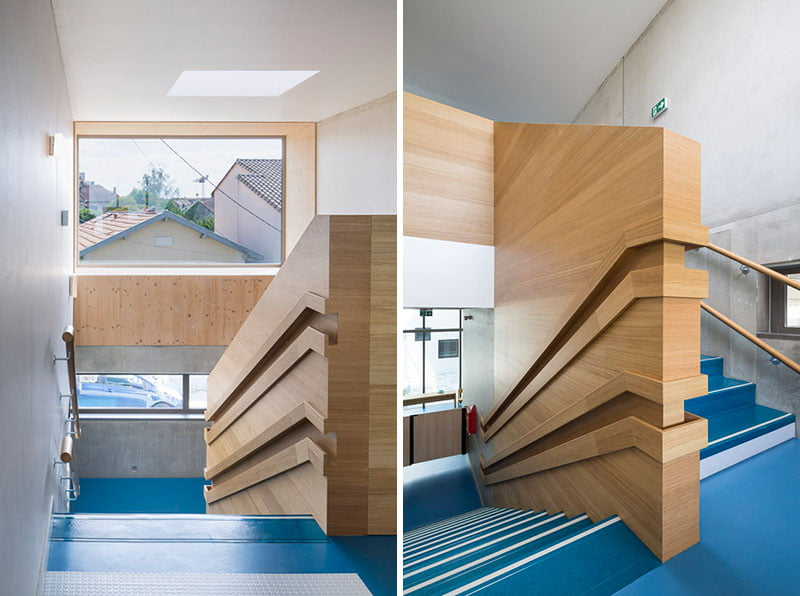 wood handrail design,