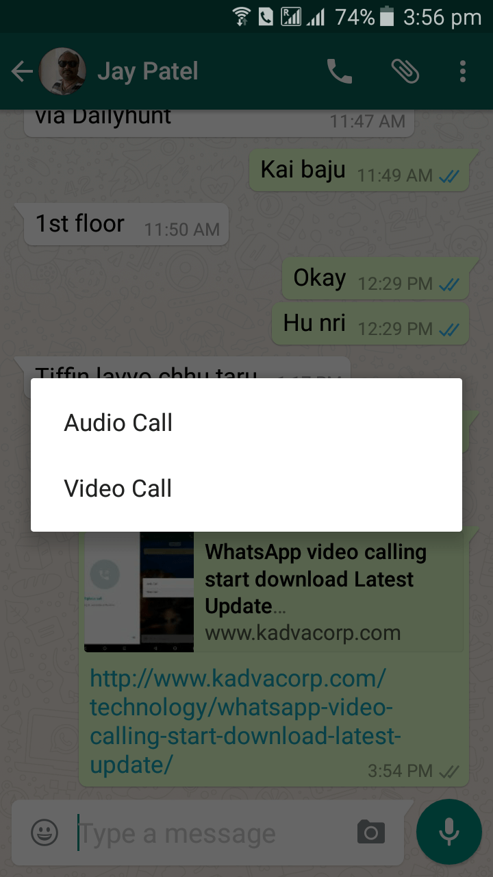 WhatsApp video calling,