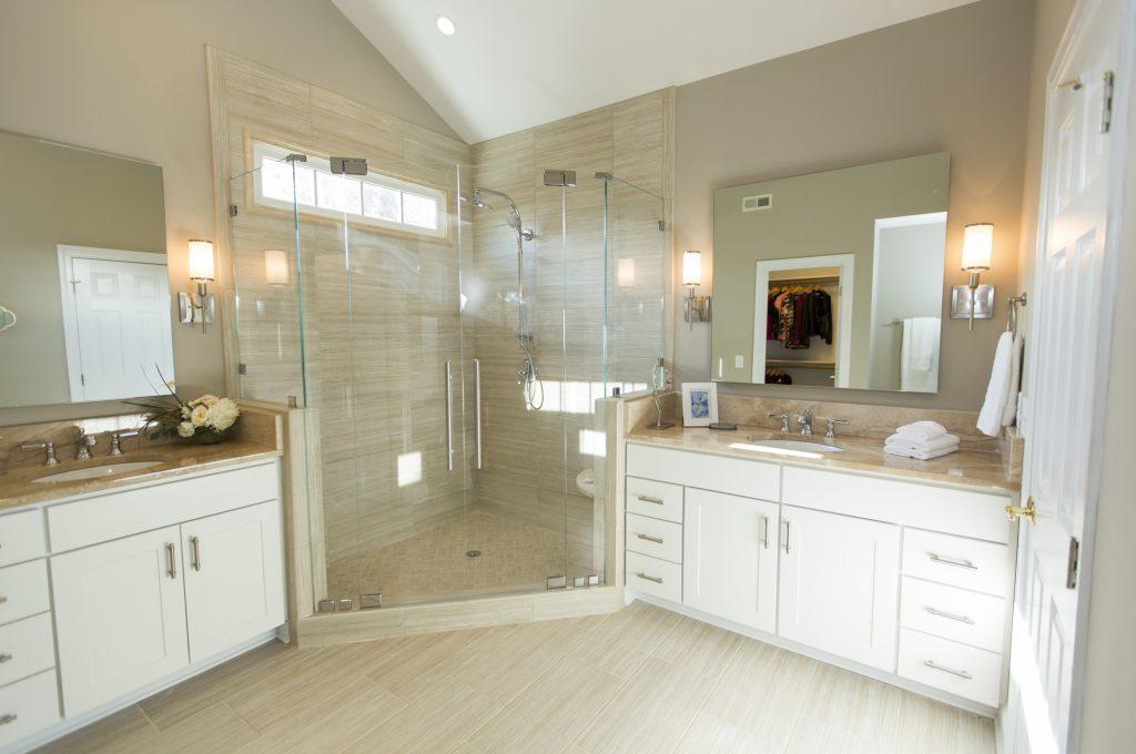 Custom Glass Double Door Shower Enclosure