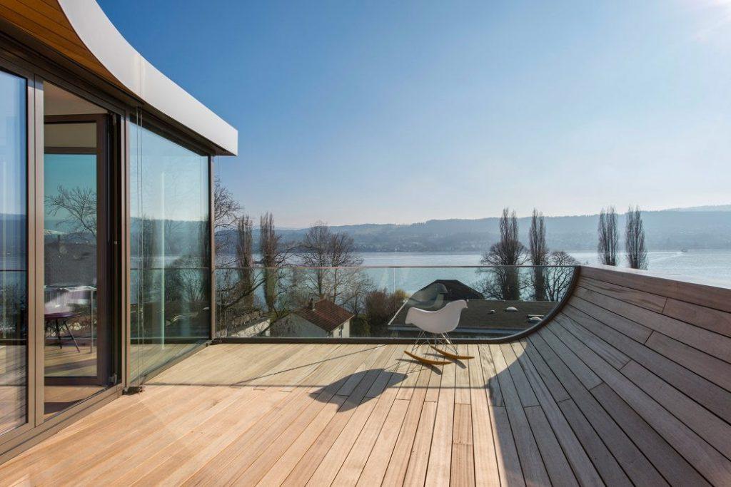 Wooden Deck Design in Modern Home