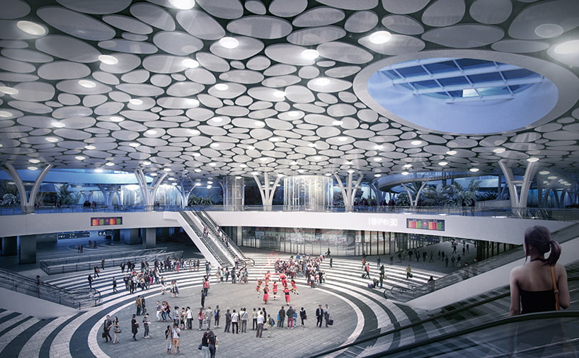 architecture and design of mecanoo-kaohsiung-station-taiwan