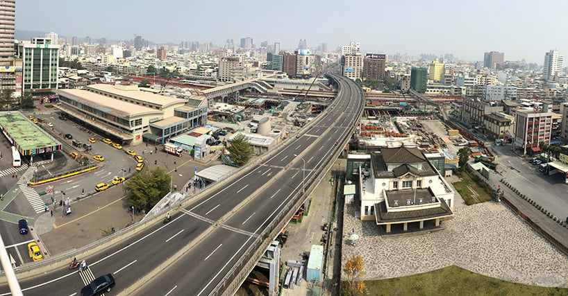exiting site in the taiwanese city of kaohsiung
