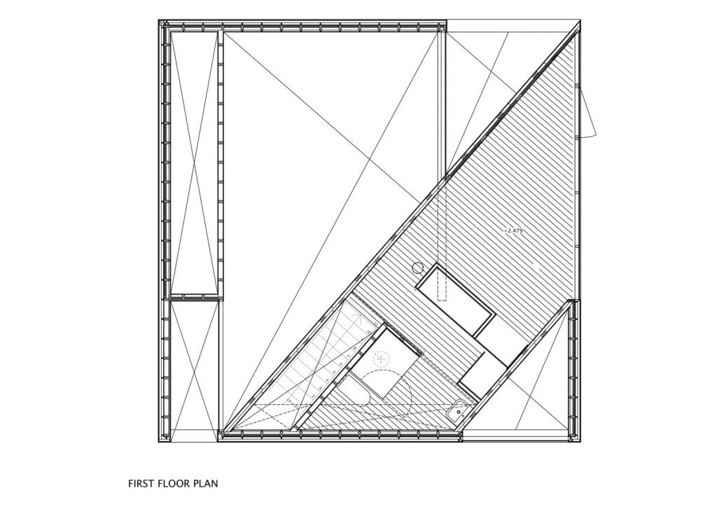 first floor plan of cube house design