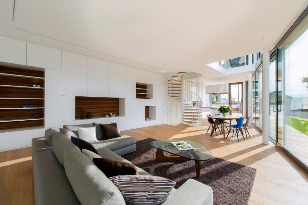 living area open floor decore in modern touch interior