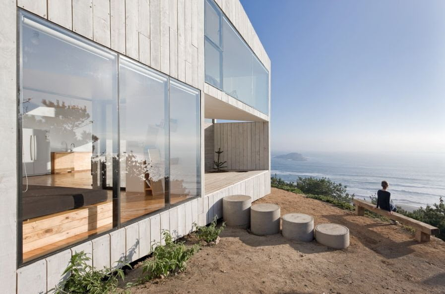 minimalist architectural design of cube house