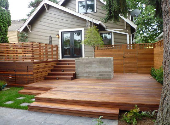 outdoor deck of house backyard design part
