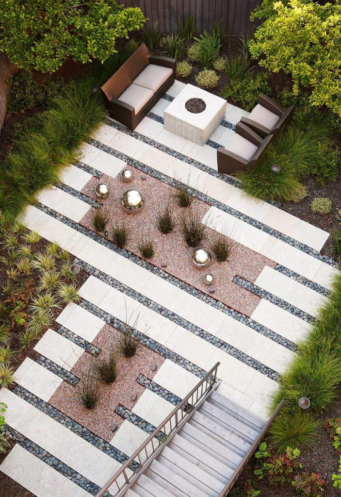planted grasses, ferns, trees feel proper backyard landscaping ideas