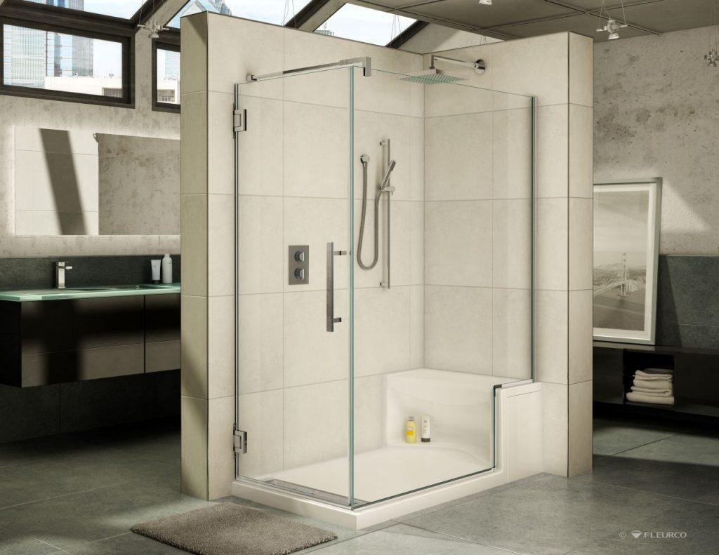 pop up shower enclosures in bathroom