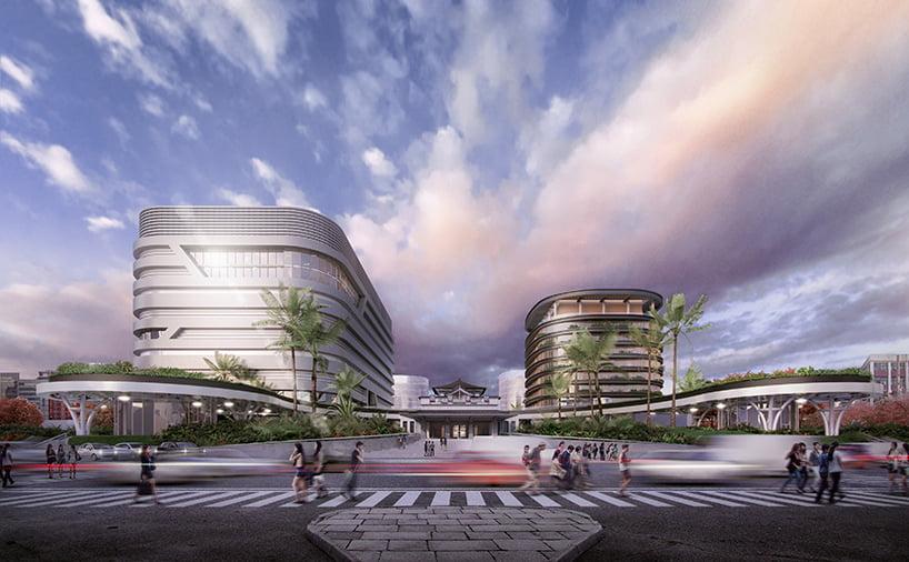 transportation hub integrates train, metro, and bus services