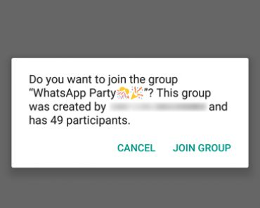 Latest WhatsApp Public Group Invite feature,