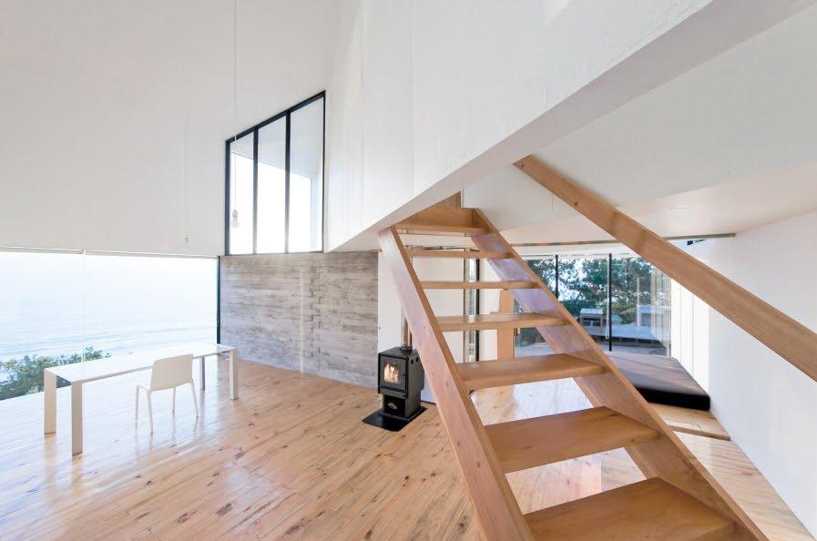 wooden stair case ideas in modern architectural design
