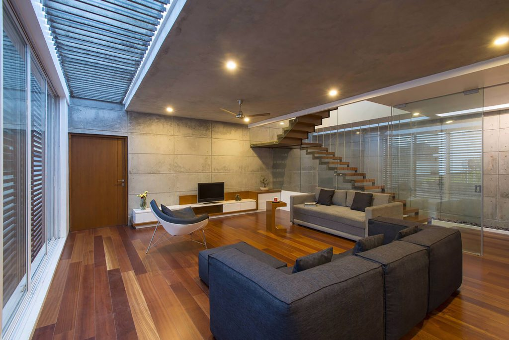 Badri Residence A Modern Indian House Architecture Paradigm (15)