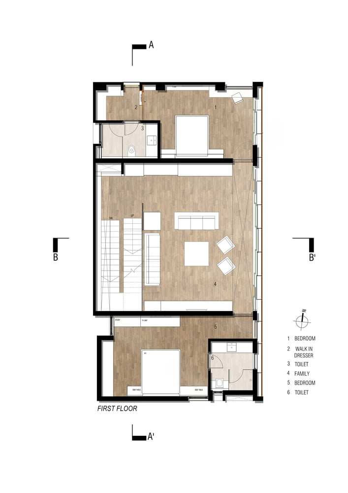 FIRST_FLOOR_PLAN of Badri Residence A Modern Indian House Architecture Paradigm