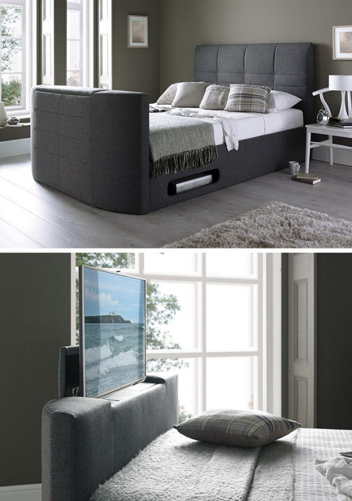 Hide it inside the bed tv unit