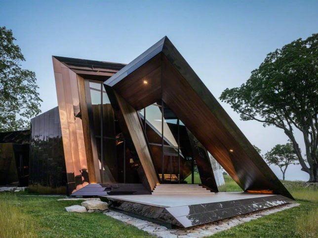 Spiked Sundial Geometric Shape House by Daniel Libeskind
