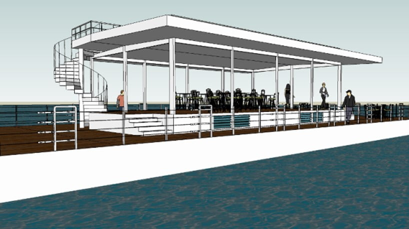 concept ideas of waterfront restaurant design