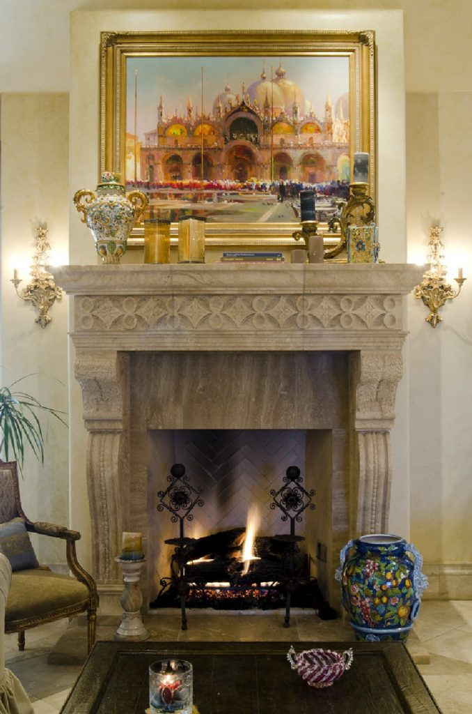 tuscan style fire place design ideas