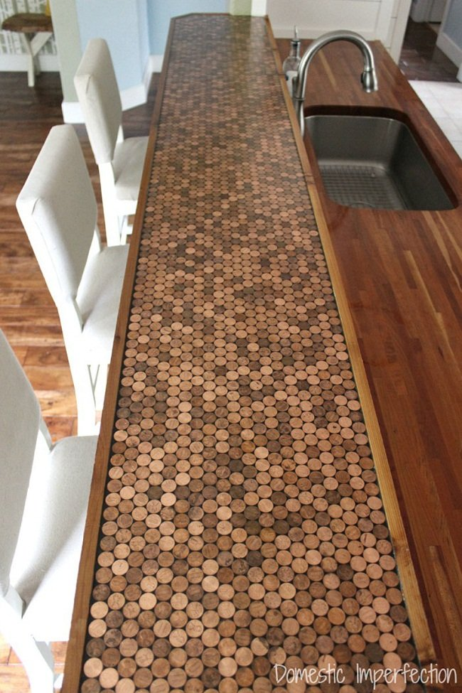 kitchen-counter-tops-made-with-pennies