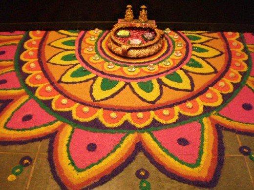 Unique rangoli designs for diwali
