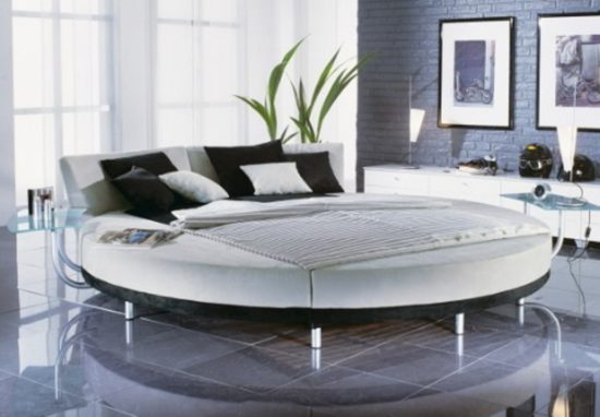 Examples Of Creative Round Bed Designs With Headboard