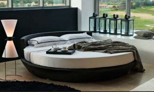 Examples Of Creative Round Bed Designs With Headboard Ideas Images