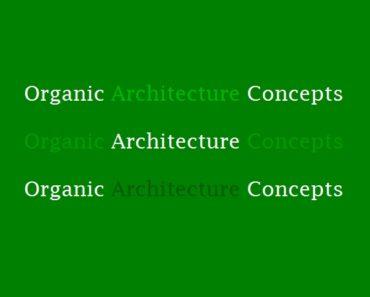 organic architecture concepts,