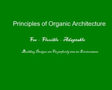 principles of organic architecture,