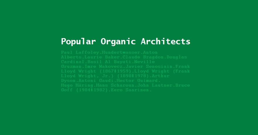 organic architects,