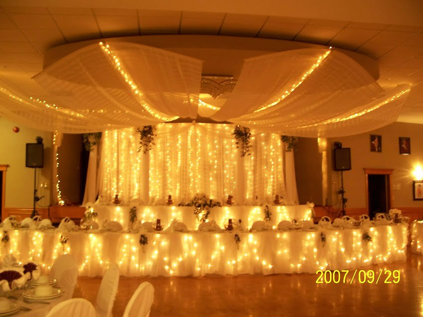 Decorating ideas for a wedding reception,