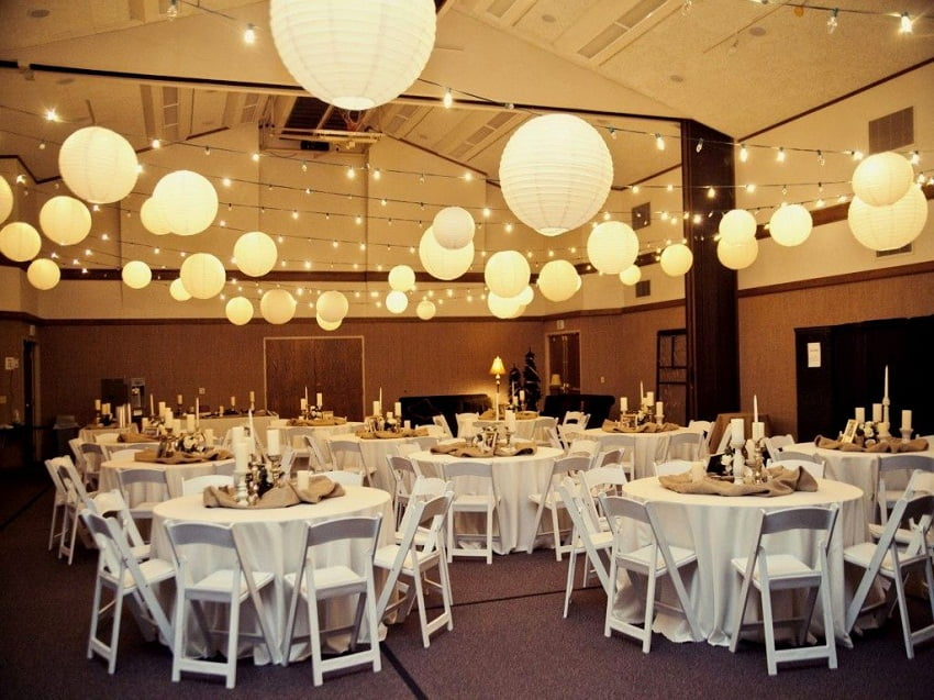 Ideas for wedding reception decorations,