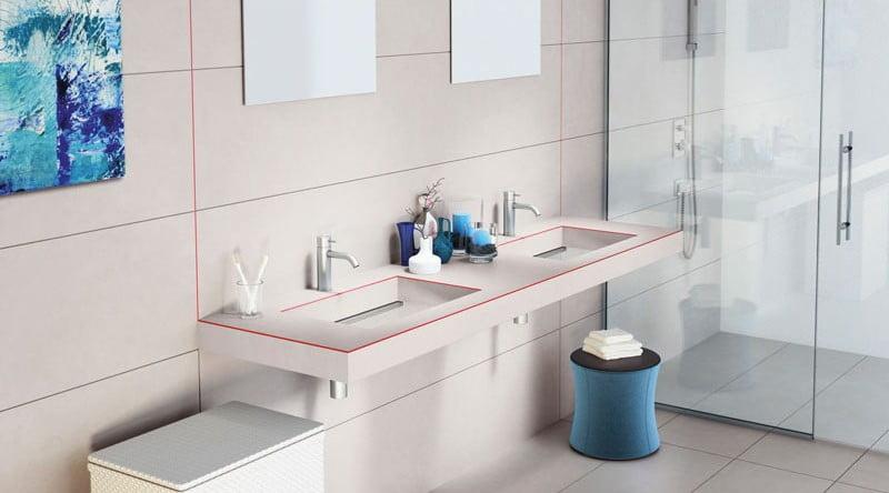 stone finish bathroom sink,