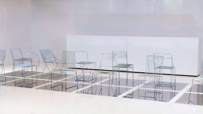 metal chair,