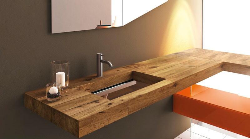 Bathroom Sink Wood : ... Glass Bottom Bathroom Sink Design Ideas for Modern Bath Vanity