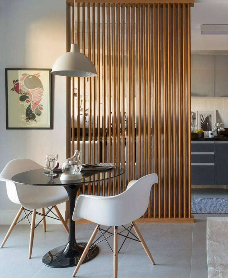 Wooden Partition Designs Drawing Room,