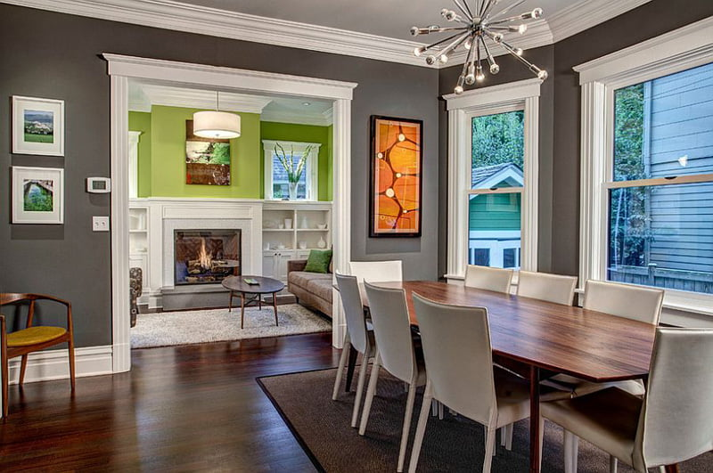 Best Gray For Dining Room With Vibrant Color Theme,