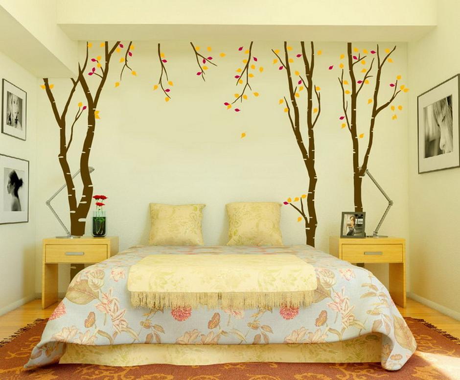 Fresh Modern Bed Wall Art Decor Ideas
