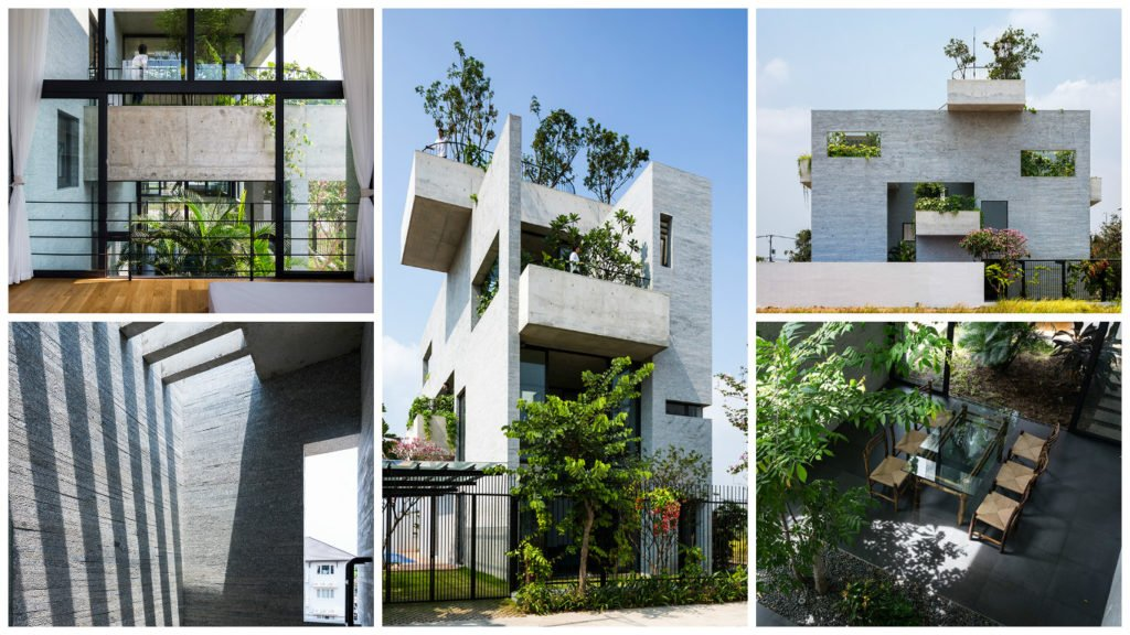 Binh house - Modern residential architecture styles of house for trees