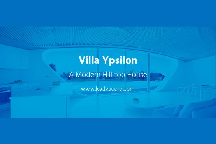 Villa Ypsilon – A creative hilltop summer house for Greece shore landscape