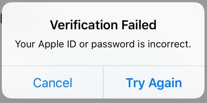 Verification Failed, Apple Id Verification Failed, iCloud Id Verification Failed, iPad id Verification Failed,