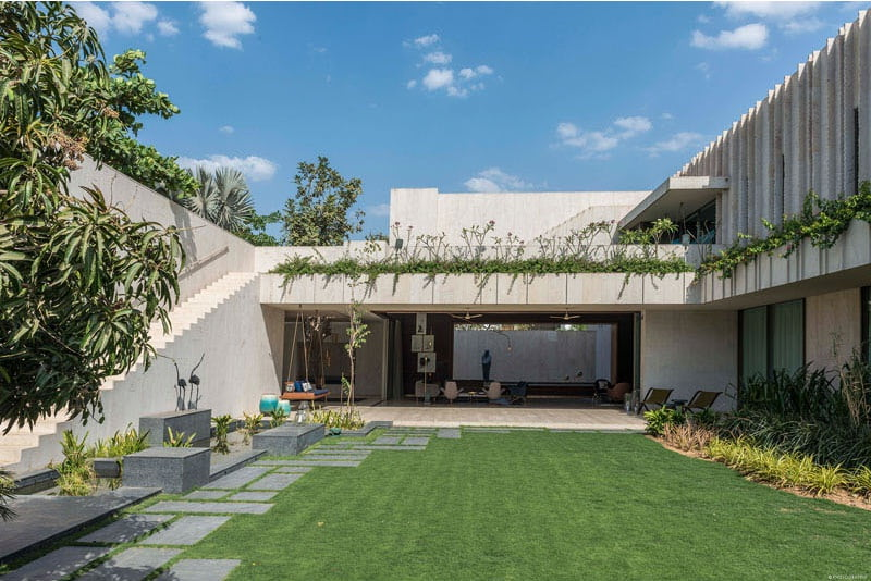 House Of Secret Gardens, SPASM Design, Ahmadabad, Garden house design ideas, Garden house design, garden house architecture, features of garden house, house garden elements, modern house with garden, Courtyard house design, Modern house in India,