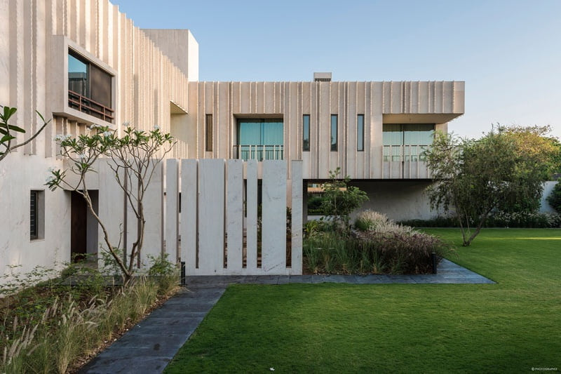 The Secret gardens are features of this modern house architecture by